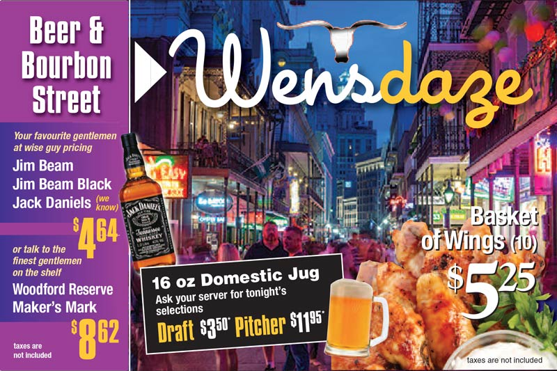 Beer & Bourbon Street Wednesdaze